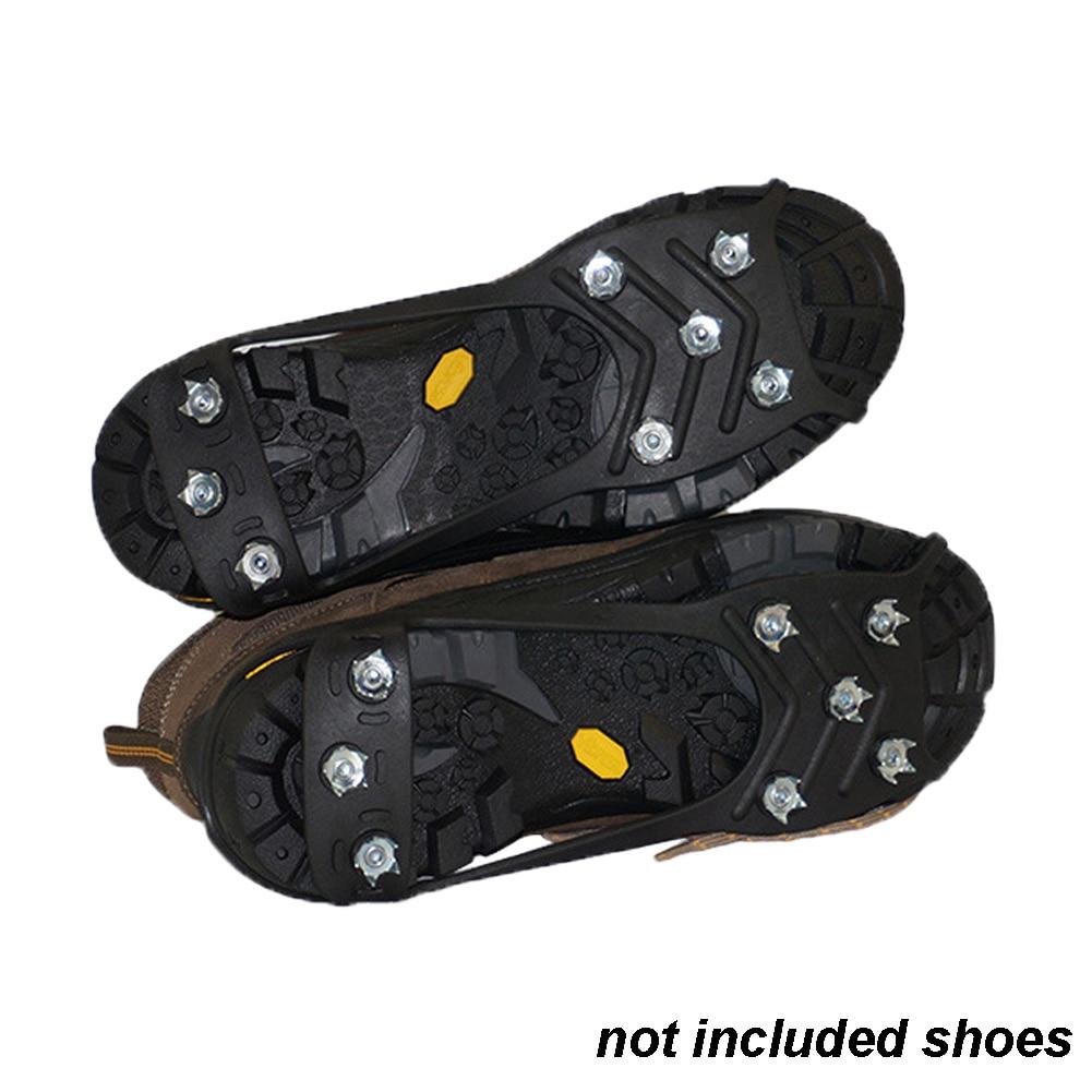[해외]8 개의 치아 overshoe cleats 등산 야외 견인 ice gripper 스파이크 하이킹 anti-slip crampons 견인 ice stud shoes grip