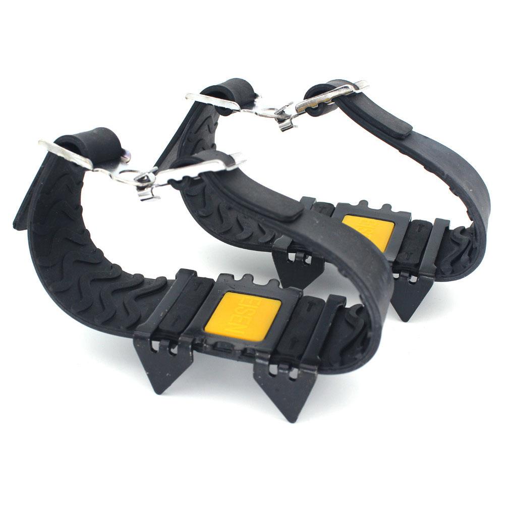 [해외]4 개의 치아 클리트 야외 견인 스파이크 하이킹 크램폰 미끄럼 방지 오버 슈 등산 아이스 그리퍼/4 개의 치아 클리트 야외 견인 스파이크 하이킹 크램폰 미끄럼 방지 오버 슈 등산 아이스 그리퍼