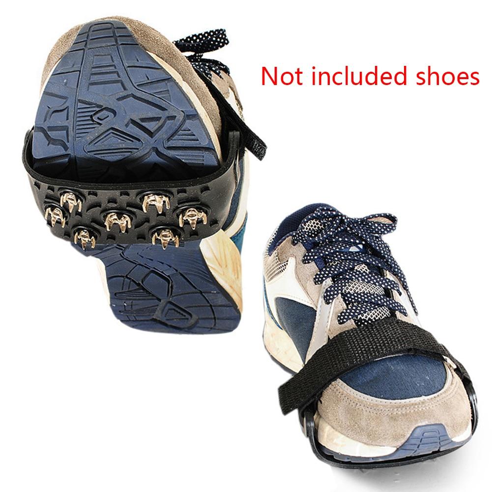 [해외]7 스터드 미끄럼 방지 크램폰 등산 아이스 캠핑 클리트 겨울 스파이크 스포츠 신발 커버 스노우 그리퍼 범용 야외 매직 스티커