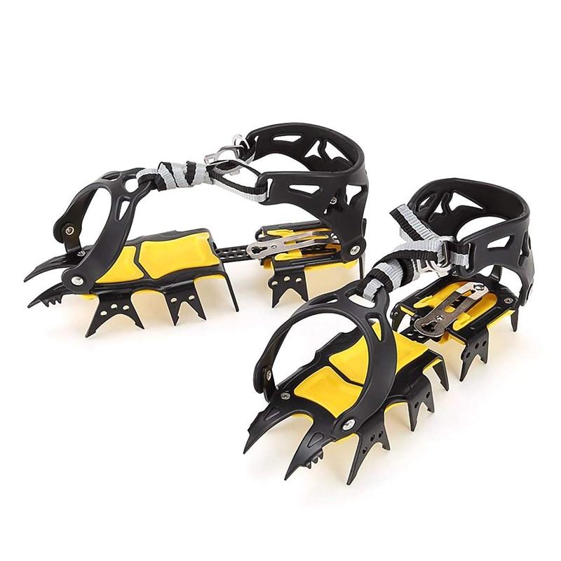 [해외]JHD-18 Teeth Crampons Traction Cleats Spikes Snow Grips,Anti-Slip Stainless Steel Crampons for Mountaineering & Ice Climbing/JHD-18 Teet