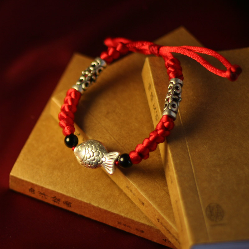 팔찌 여성 패션 silvefish 제 빨간 문자열  스타일 DIY 액세서리/Bracelet female fashion silvefish handmade red string chinese style diy accessories